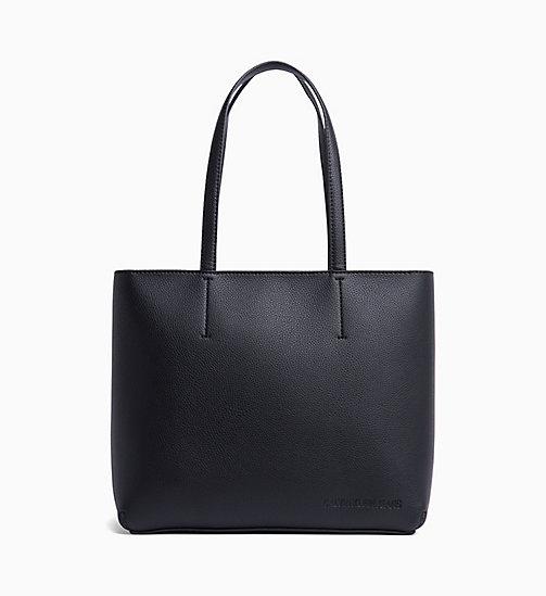 CALVIN KLEIN JEANS Zipper Tote Bag - BLACK - CALVIN KLEIN JEANS SHOES & ACCESSORIES - main image