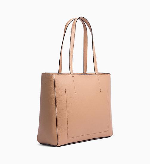 Calvin Klein Jeans Zipper Tote Bag Dark Tan Bags