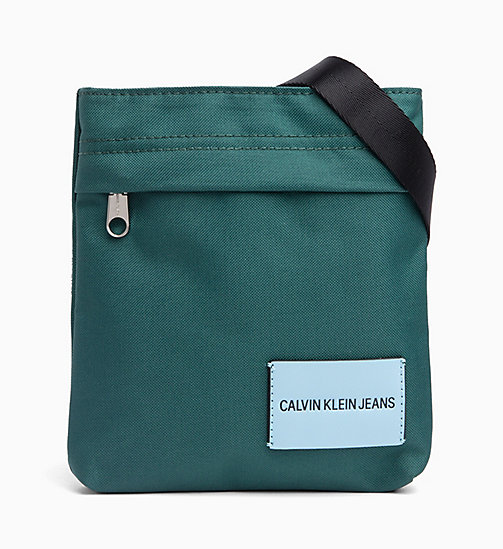CALVIN KLEIN JEANS Micro Flat Cross Body Bag - JUNE BUG - CALVIN KLEIN JEANS BAGS - main image