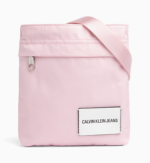 CALVIN KLEIN JEANS Micro Flat Cross Body Bag - CHINTZ ROSE - CALVIN KLEIN JEANS CROSSOVER BAGS - main image