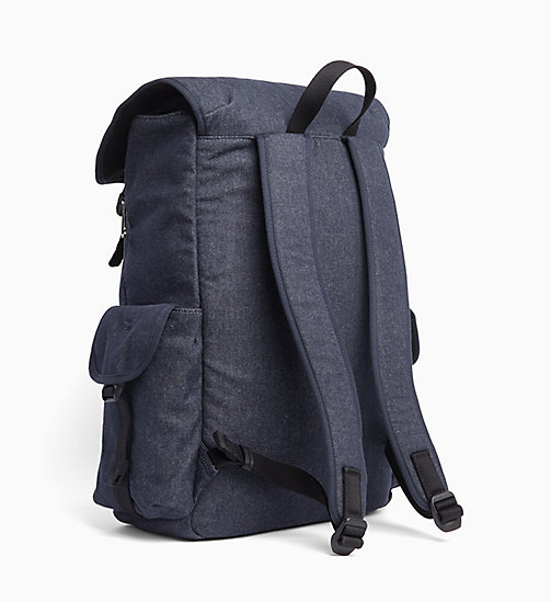 CALVIN KLEIN JEANS Denim Backpack - BLUE DENIM - CALVIN KLEIN JEANS BAGS - detail image 1