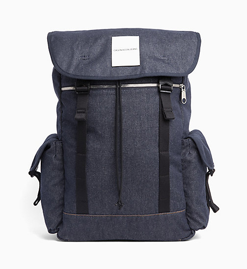 CALVIN KLEIN JEANS Denim Backpack - BLUE DENIM - CALVIN KLEIN JEANS BAGS - main image