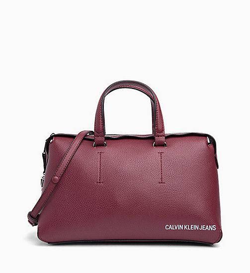 CALVIN KLEIN JEANS Barrel Duffle Bag - TAWNY PORT - CALVIN KLEIN JEANS NEW IN - main image