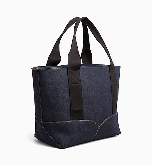 CALVIN KLEIN JEANS Borsa tote media in denim - BLUE DENIM - CALVIN KLEIN JEANS DENIM SHOP - dettaglio immagine 1