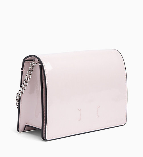 CALVIN KLEIN JEANS Patent Cross Body Bag - LIGHT CHINTZ ROSE - CALVIN KLEIN JEANS CROSSOVER BAGS - detail image 1