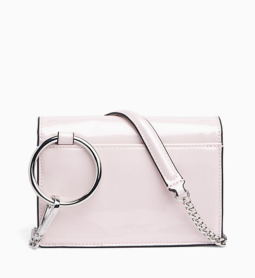 CALVIN KLEIN JEANS Patent Cross Body Bag - LIGHT CHINTZ ROSE - CALVIN KLEIN JEANS BAGS - main image