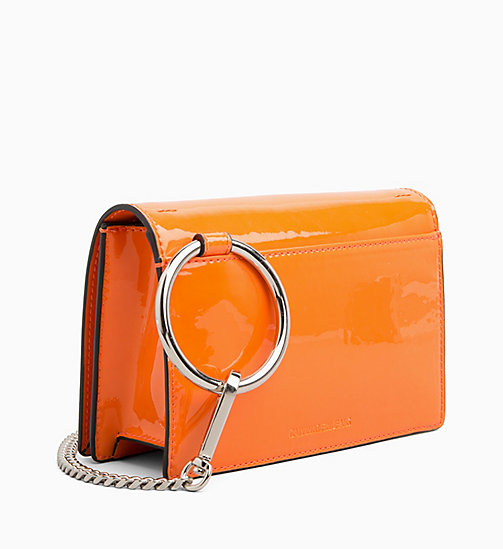 CALVIN KLEIN JEANS Patent Cross Body Bag - NEON ORANGE - CALVIN KLEIN JEANS CROSSOVER BAGS - detail image 1