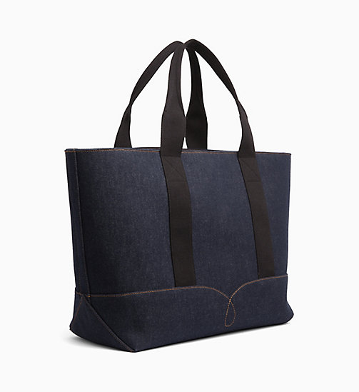 CALVIN KLEIN JEANS Borsa tote grande in denim - BLUE DENIM - CALVIN KLEIN JEANS DENIM SHOP - dettaglio immagine 1