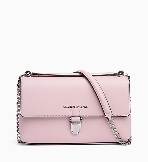 CALVIN KLEIN JEANS Flap Satchel - CHINTZ ROSE -  CLUTCH BAGS - main image