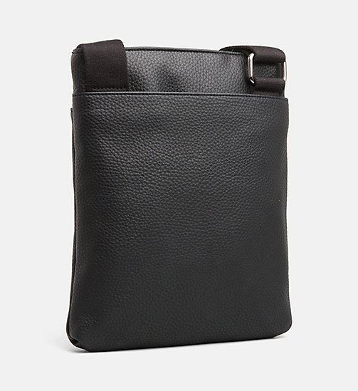 CALVIN KLEIN JEANS Flat Cross Body Bag - BLACK - CALVIN KLEIN JEANS IN THE THICK OF IT FOR HIM - detail image 1