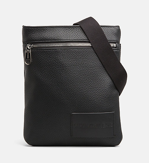 CALVIN KLEIN JEANS Flat Cross Body Bag - BLACK - CALVIN KLEIN JEANS NEW IN - main image