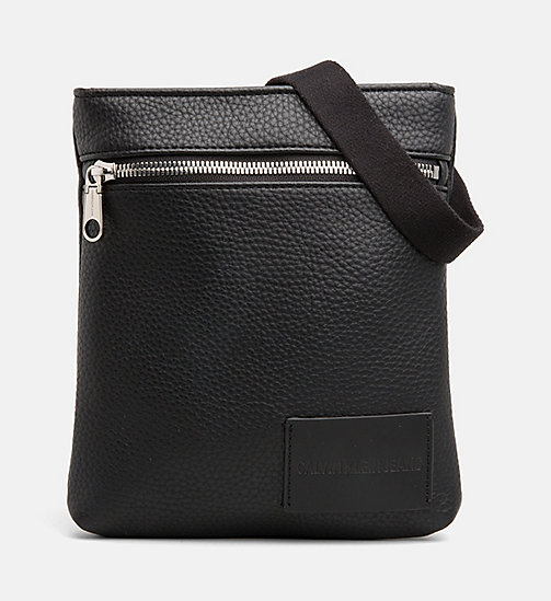 CALVIN KLEIN JEANS Micro Flat Cross Body Bag - BLACK - CALVIN KLEIN JEANS NEW IN - main image