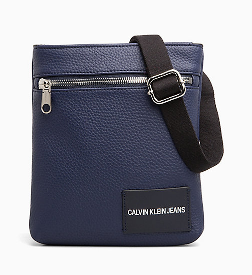 CALVIN KLEIN JEANS Micro Flat Cross Body Bag - NAVY -  BAGS - main image