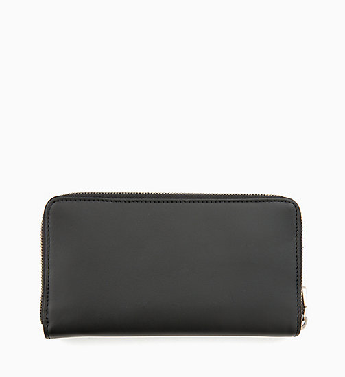 CALVIN KLEIN JEANS Leather Zip-Around Wallet - BLACK -  ALL GIFTS - detail image 1