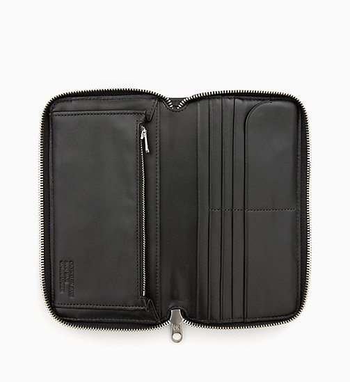 CALVIN KLEIN JEANS Leather Zip-Around Wallet - BLACK - CALVIN KLEIN JEANS ALL GIFTS - detail image 1