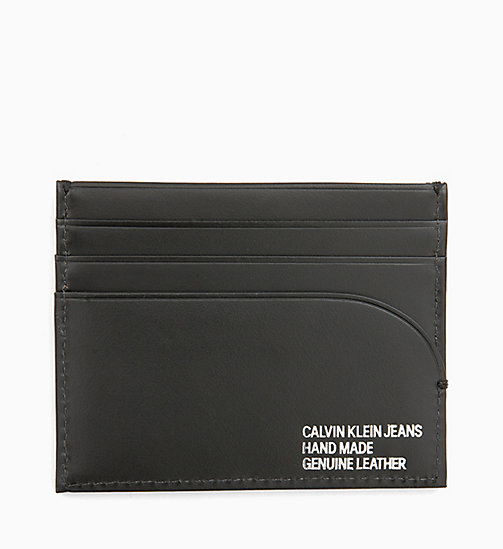 CALVIN KLEIN JEANS Leather Cardholder - BLACK - CALVIN KLEIN JEANS ALL GIFTS - detail image 1