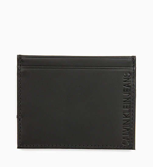 CALVIN KLEIN JEANS Leather Cardholder - BLACK - CALVIN KLEIN JEANS ALL GIFTS - main image