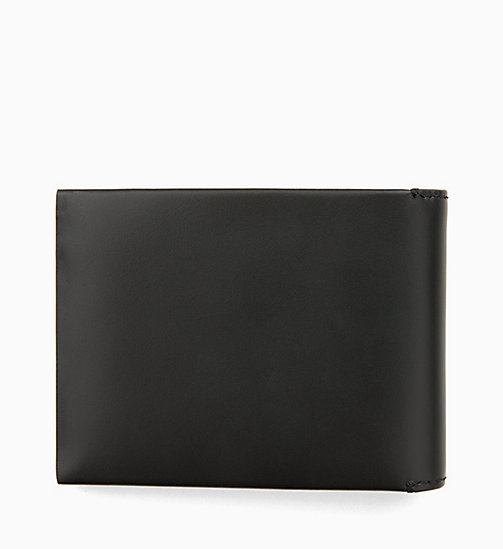 CALVIN KLEIN JEANS Leather Billfold Wallet - BLACK - CALVIN KLEIN JEANS WALLETS & SMALL ACCESSORIES - detail image 1