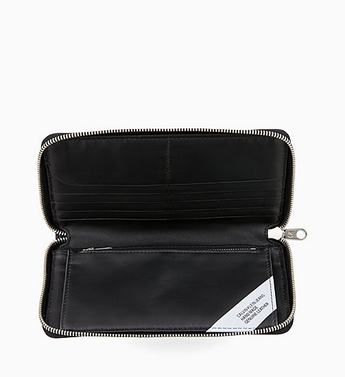 CALVIN KLEIN JEANS Long Zip-Around Wallet - BLACK - CALVIN KLEIN JEANS WALLETS & SMALL ACCESSORIES - detail image 1