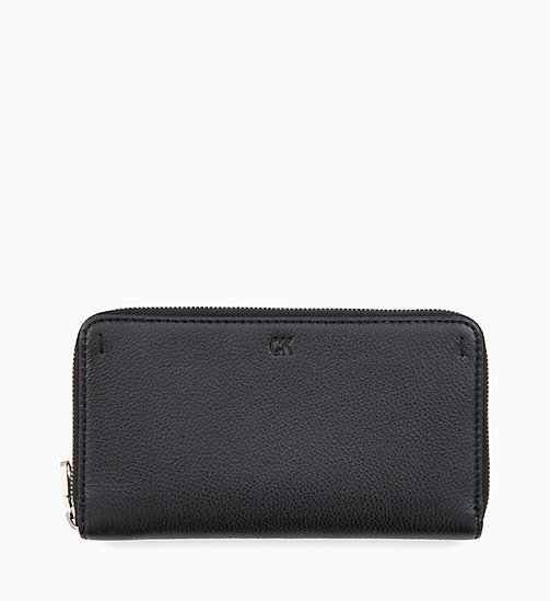 CALVIN KLEIN JEANS Long Zip-Around Wallet - BLACK - CALVIN KLEIN JEANS WALLETS & SMALL ACCESSORIES - main image