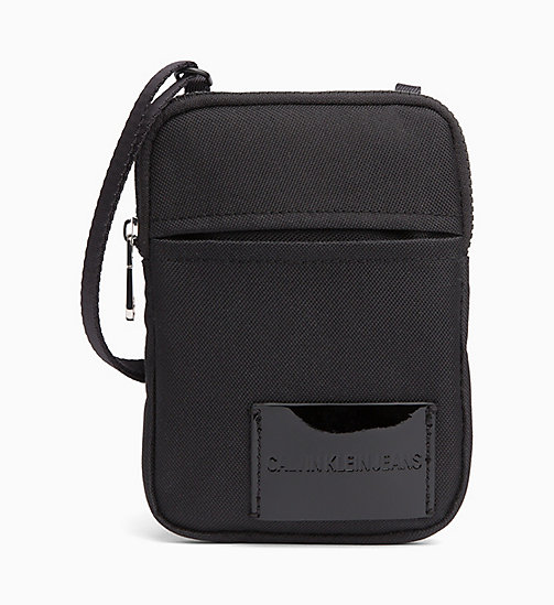 CALVIN KLEIN JEANS Phone Cross Body Bag - BLACK SHINE - CALVIN KLEIN JEANS WALLETS & SMALL ACCESSORIES - main image