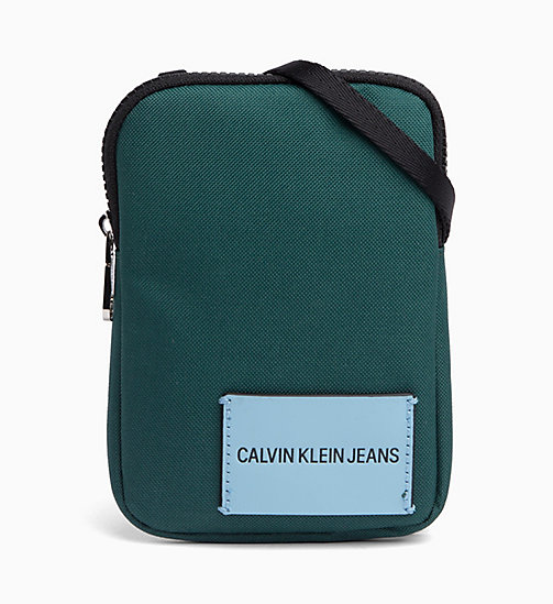 CALVIN KLEIN JEANS Phone Cross Body Bag - JUNE BUG - CALVIN KLEIN JEANS WALLETS & SMALL ACCESSORIES - main image