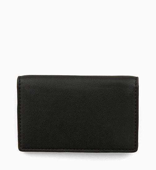 CALVIN KLEIN JEANS Cardholder with Coin Pocket - BLACK - CALVIN KLEIN JEANS WALLETS & SMALL ACCESSORIES - detail image 1