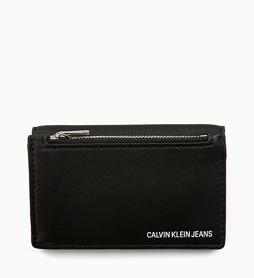 CALVIN KLEIN JEANS Cardholder with Coin Pocket - BLACK - CALVIN KLEIN JEANS WALLETS & SMALL ACCESSORIES - main image