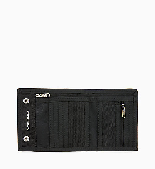 CALVIN KLEIN JEANS Canvas Billfold Wallet - BLACK SHINE - CALVIN KLEIN JEANS MEN - detail image 1