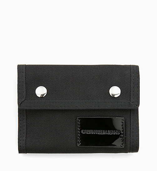 CALVIN KLEIN JEANS Canvas Billfold Wallet - BLACK SHINE - CALVIN KLEIN JEANS WOMEN - main image