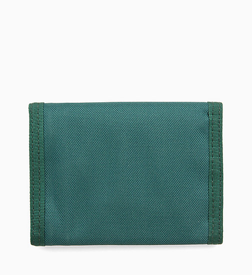 CALVIN KLEIN JEANS Canvas Billfold Wallet - JUNE BUG - CALVIN KLEIN JEANS WALLETS & SMALL ACCESSORIES - detail image 1
