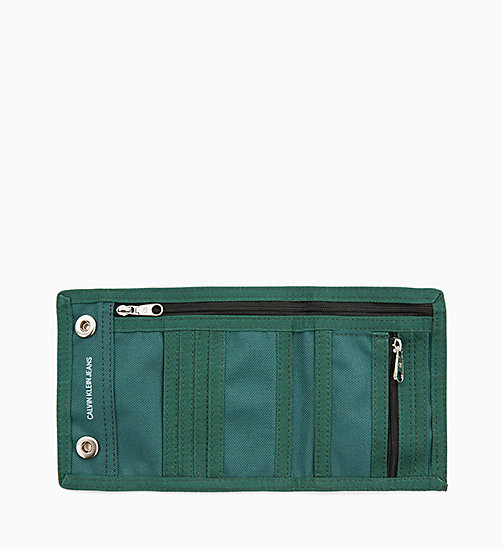 CALVIN KLEIN JEANS Canvas Billfold Wallet - JUNE BUG - CALVIN KLEIN JEANS ALL GIFTS - detail image 1