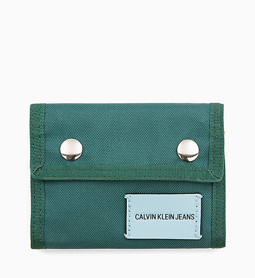 CALVIN KLEIN JEANS Canvas Billfold Wallet - JUNE BUG - CALVIN KLEIN JEANS WALLETS & SMALL ACCESSORIES - main image