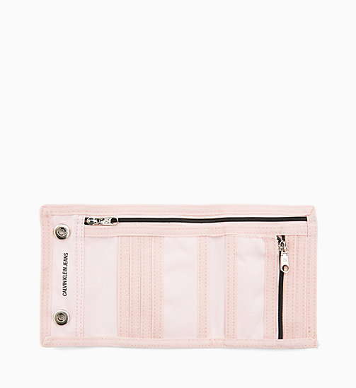 CALVIN KLEIN JEANS Canvas Billfold Wallet - CHINTZ ROSE - CALVIN KLEIN JEANS WALLETS & SMALL ACCESSORIES - detail image 1