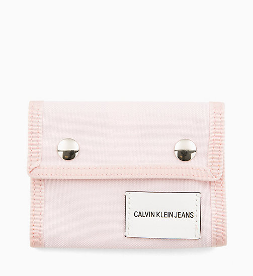 CALVIN KLEIN JEANS Canvas Billfold Wallet - CHINTZ ROSE - CALVIN KLEIN JEANS WALLETS & SMALL ACCESSORIES - main image