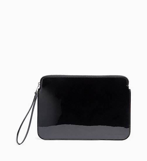 CALVIN KLEIN JEANS Patent Pouch - BLACK - CALVIN KLEIN JEANS WALLETS & SMALL ACCESSORIES - main image