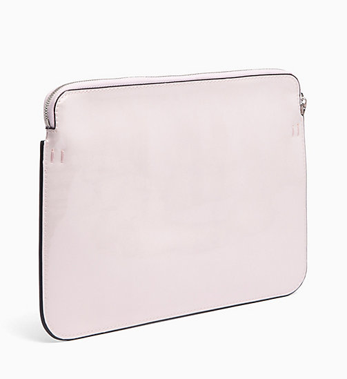 CALVIN KLEIN JEANS Patent Pouch - LIGHT CHINTZ ROSE - CALVIN KLEIN JEANS WALLETS & SMALL ACCESSORIES - detail image 1