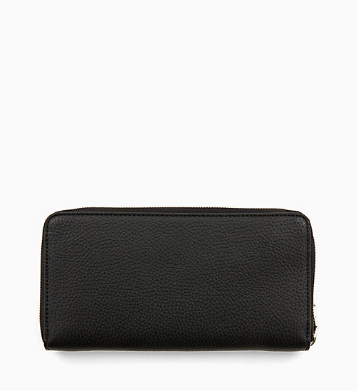 CALVIN KLEIN JEANS Zip-Around Wallet - BLACK - CALVIN KLEIN JEANS WALLETS & SMALL ACCESSORIES - detail image 1
