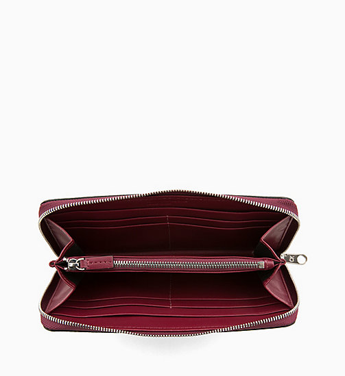 CALVIN KLEIN JEANS Zip-Around Wallet - TAWNY PORT - CALVIN KLEIN JEANS WOMEN - detail image 1