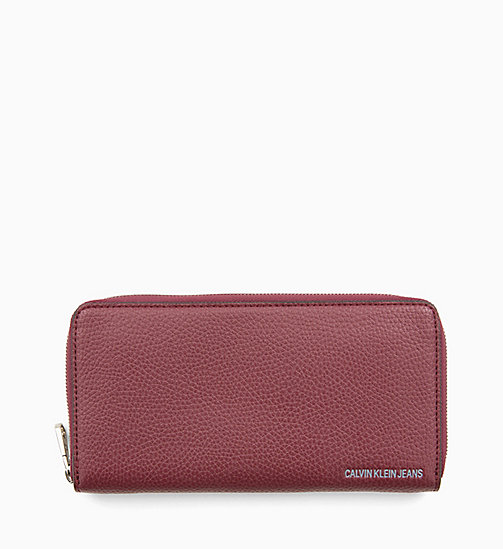 CALVIN KLEIN JEANS Zip-Around Wallet - TAWNY PORT - CALVIN KLEIN JEANS NEW IN - main image