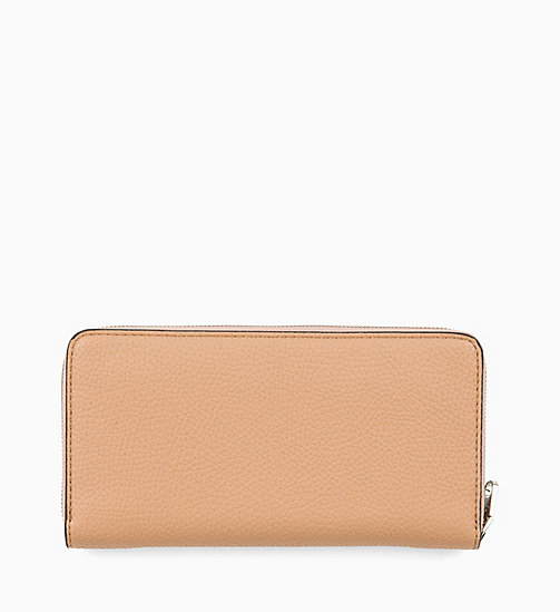 CALVIN KLEIN JEANS Zip-Around Wallet - DARK TAN - CALVIN KLEIN JEANS NEW IN - detail image 1