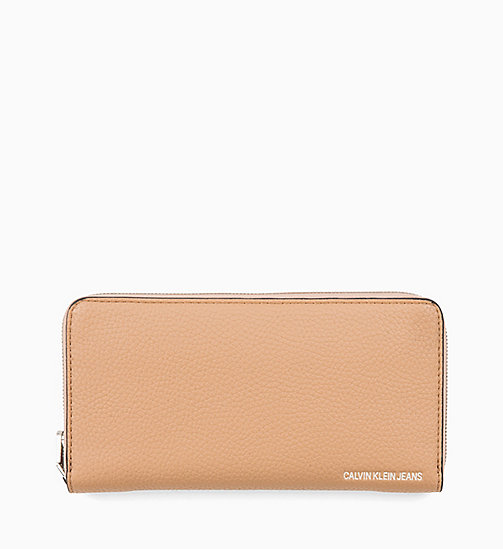 CALVIN KLEIN JEANS Zip-Around Wallet - DARK TAN - CALVIN KLEIN JEANS WOMEN - main image