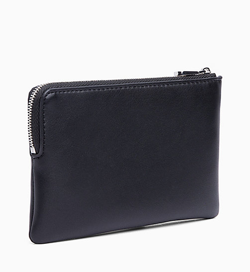 CALVIN KLEIN JEANS Mini Wristlet - BLACK - CALVIN KLEIN JEANS WALLETS & SMALL ACCESSORIES - detail image 1