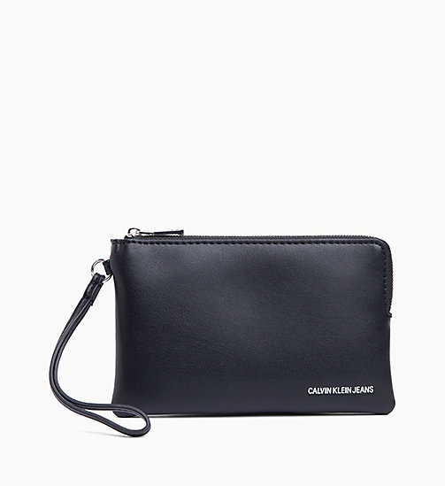 CALVIN KLEIN JEANS Mini Wristlet - BLACK - CALVIN KLEIN JEANS WALLETS & SMALL ACCESSORIES - main image