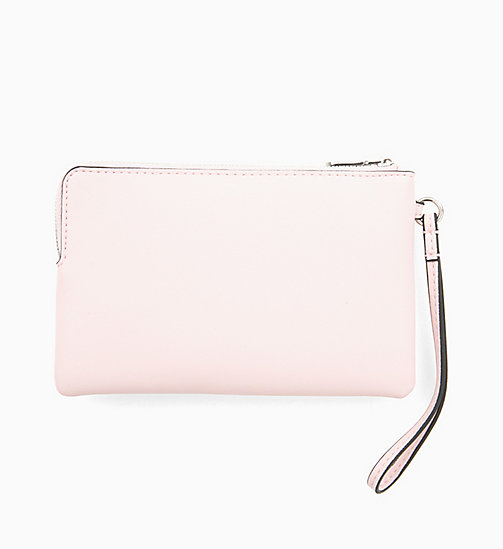 CALVIN KLEIN JEANS Mini Wristlet - CHINTZ ROSE - CALVIN KLEIN JEANS WALLETS & SMALL ACCESSORIES - detail image 1