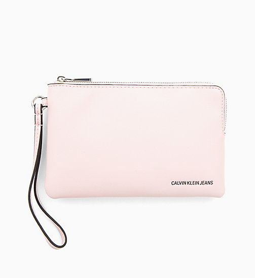 CALVIN KLEIN JEANS Mini Wristlet - CHINTZ ROSE - CALVIN KLEIN JEANS WALLETS & SMALL ACCESSORIES - main image