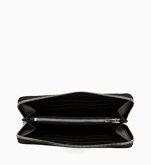 CALVIN KLEIN JEANS Zip-Around Wallet - BLACK - CALVIN KLEIN JEANS WOMEN - detail image 1