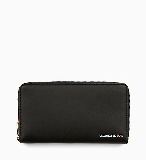 CALVIN KLEIN JEANS Zip-Around Wallet - BLACK - CALVIN KLEIN JEANS WALLETS & SMALL ACCESSORIES - main image