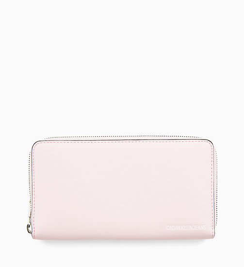 CALVIN KLEIN JEANS Zip-Around Wallet - CHINTZ ROSE - CALVIN KLEIN JEANS WALLETS & SMALL ACCESSORIES - main image
