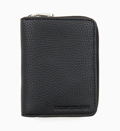 CALVIN KLEIN JEANS French Wallet - BLACK - CALVIN KLEIN JEANS MEN - main image